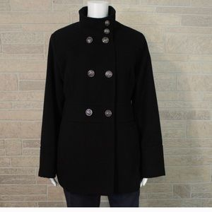 Liz Claiborne black pea coat
